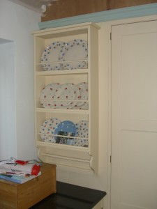 Cottage Style wall mounted Plate Rack, Copyright Celtica Kitchens