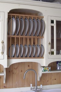 Cottage Style Dresser with Plate Rack over sink, Copyright Celtica Kitchens