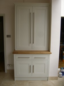 Tall Double Larder, Shaker Style Cabinet, Storage Solution, Office or Kitchen