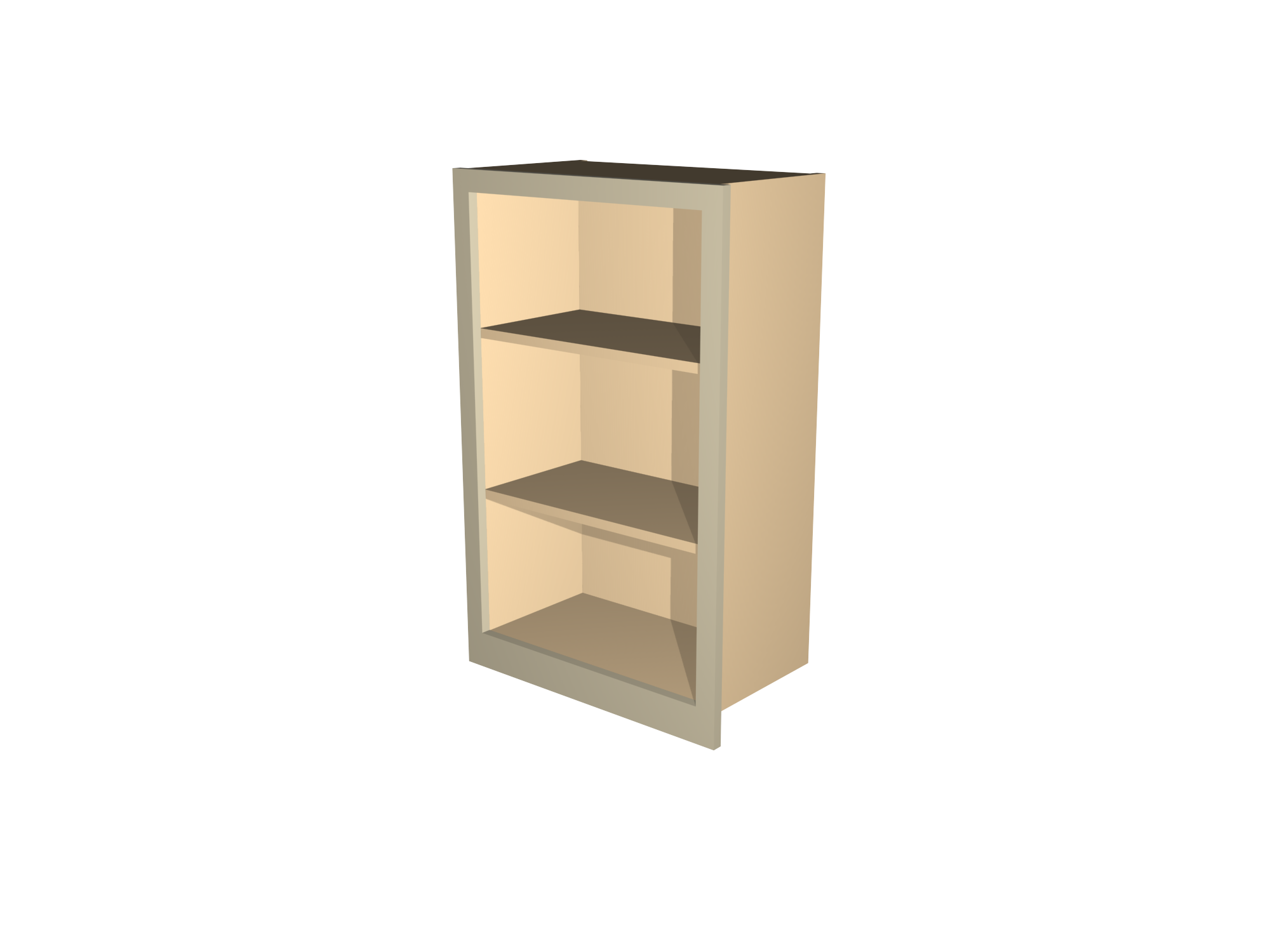 open shelf wall cabinet by Celtica Kitchens